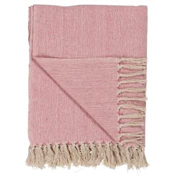 Bavlněný přehoz Pink/cream 130x160