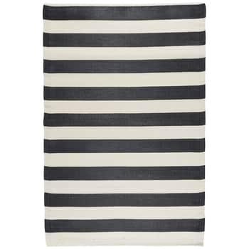 Plastový koberec Recykled Black Stripes 120x180