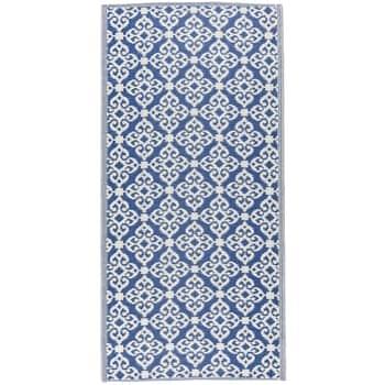 Plastový koberec Recykled Blue 90x180