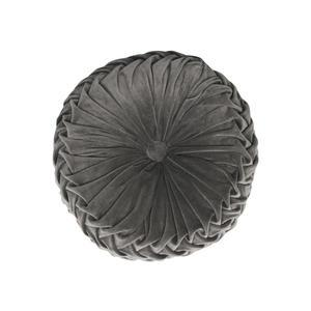 Sametový polštář svýplní Grey Velur 38cm