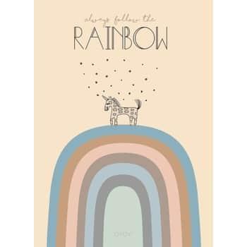 Dětský plakát Follow the Rainbow 50x70 cm