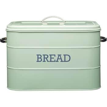 Kovový box na pečivo Bread Sage green