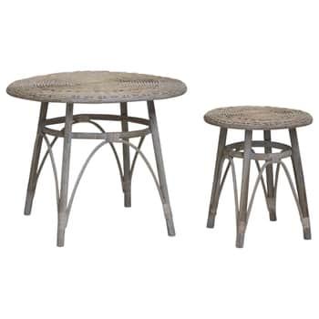 Proutěný stolek French