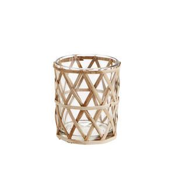 Skleněný svícen Bamboo