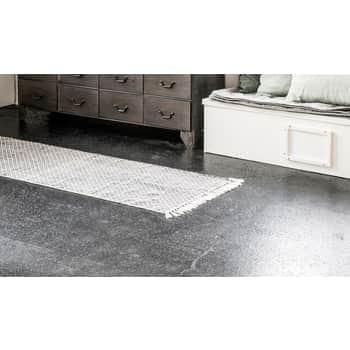 Bavlnený koberec Black/white 60x180