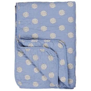 Prošívaná deka Blue/circle pattern 130x180 cm