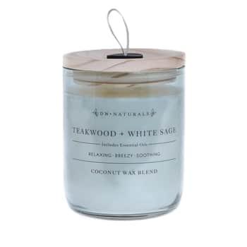 Vonná svíčka ve skle Teakwood and White Sage 500g