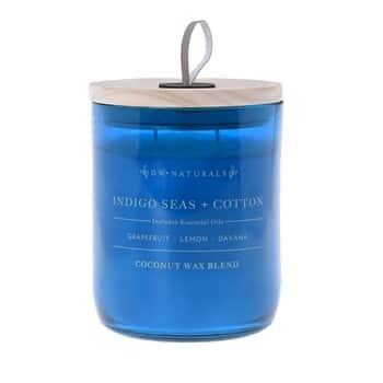 Vonná svíčka ve skle Indigo Seas and Cotton 500g