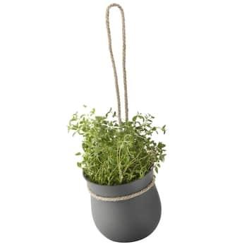 Závesný silikónový kvetináč Grow-it Grey