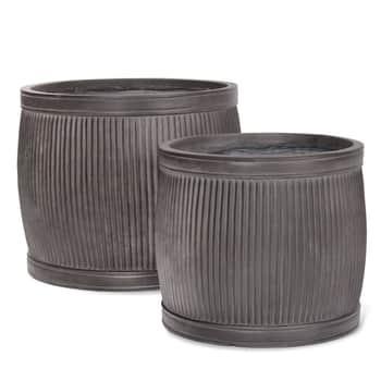 Čierny záhradný kvetináč Fibre Clay