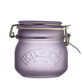 Skleněná dóza sklipem Purple Frosted 500ml