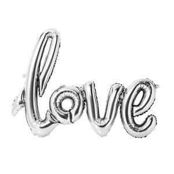 Romantický balón Love Silver