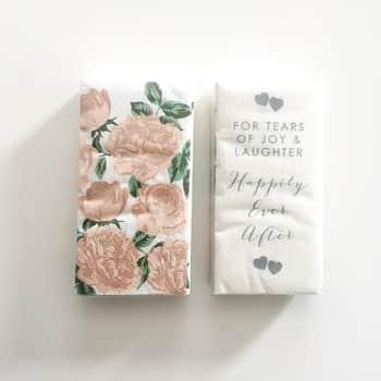 Svadobné papierové vreckovky Romance