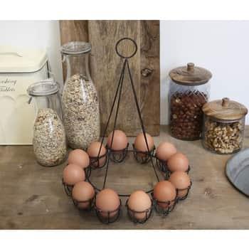 Kovový stojan na 12 vajec Antique Black