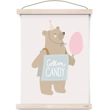 Plakát do dětského pokojíčku Circus Cotton Candy A3
