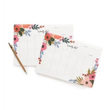 Stolní týdenní plánovač Lively Floral