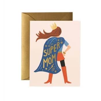 Přání sobálkou Super Mom