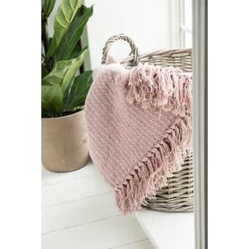 Bavlněný přehoz Pink Cream 130x160 cm