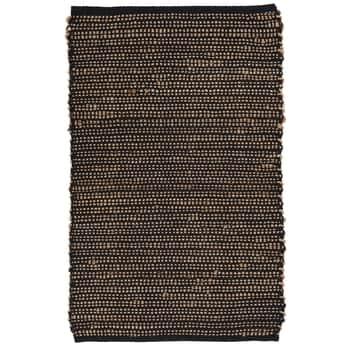 Jutový koberček Cotton Black 60x90 cm