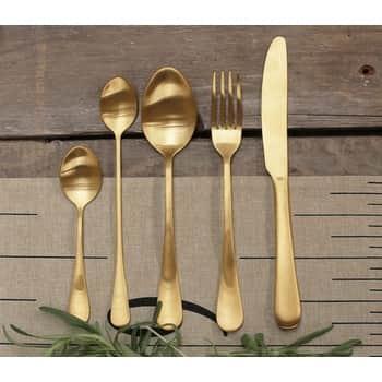 Příborový set Gold Steel - set 5ks
