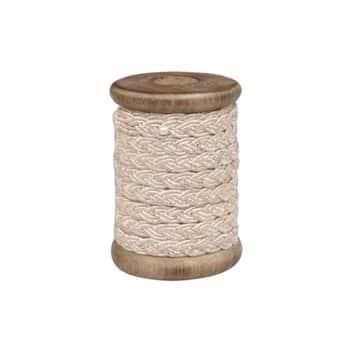 Bavlněná stuha se špulkou Silver Braided - 5m