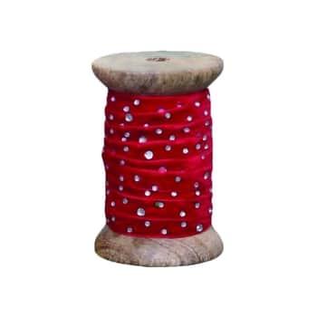 Sametová stuha skamínky Red - 1m