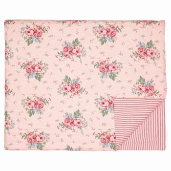 Prošívaný přehoz Marley Pale pink 140x100
