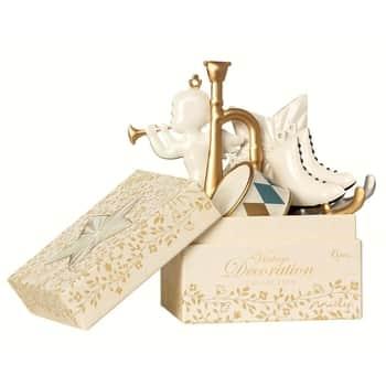 Vánoční ozdoby White Gold - 6 ks