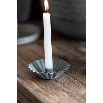 Svícen pro úzkou svíčku Zinc Wavy Edge