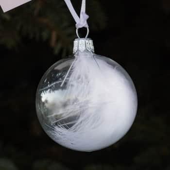 Vánoční baňka spírkem - 8 cm