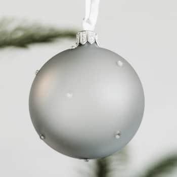 Vánoční baňka Stones Grey - 6 cm