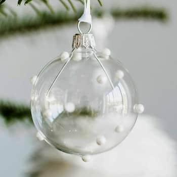 Vánoční baňka Pearls Clear - 6 cm