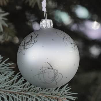 Vánoční baňka Rose Matt grey - 8 cm