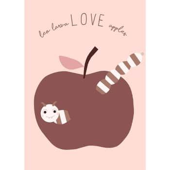 Plakát do dětského pokojíčku Love Apples