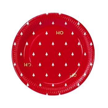 Vianočné papierové taniere Ho Ho Ho - set 8ks