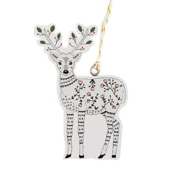 Štítky na vánoční dárky Folk Deer 6 ks