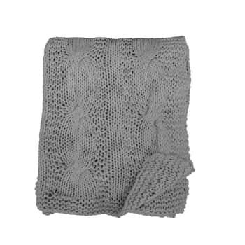Pletená deka Zinc Grey 130x180