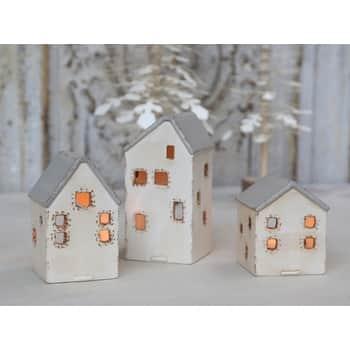 Lucerny ve tvaru domečku Vintage House set 3 kusů
