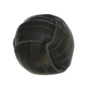 Koženková úchytka Black ⌀ 3 cm