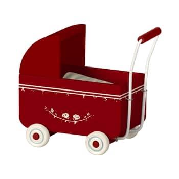 Dřevěný kočárek pro zvířátka Maileg MY Red