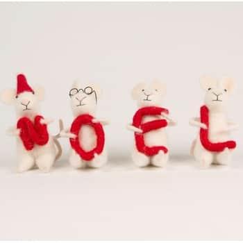Adventní dekorace Noel Mice set