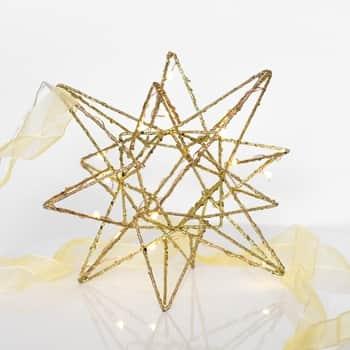 Závěsná svítící hvězda Polar Small Gold