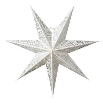 Závěsná svítící hvězda Indra White Silver 60 cm