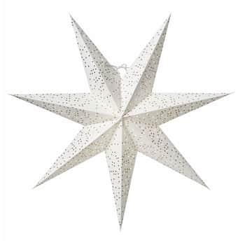 Závěsná svítící hvězda Helsinky White Gold 60 cm