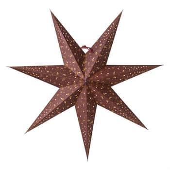 Závěsná svítící hvězda Isadora Burgundy 60 cm