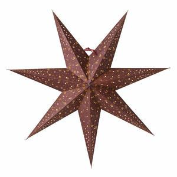 Závesná svietiaca hviezda Isadora Burgundy 60 cm