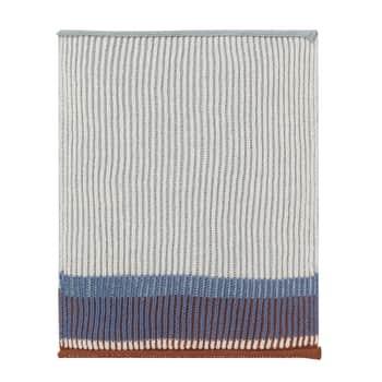 Pletený hadřík Akin Dull blue - set 2 ks