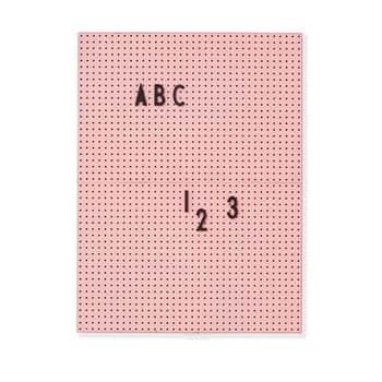 Růžová cedule na vzkazy Message Board A4