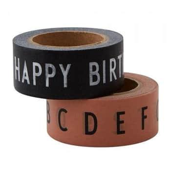 Designové lepicí pásky HAPPY BIRTHDAY - 2ks