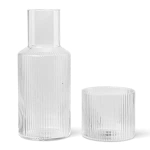 ferm LIVING / Skleněná karafa Ripple Small 500ml